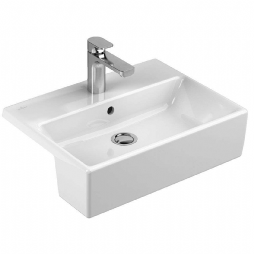 V&B  Single Tap Hole ( Could be used As A 3 Tap Hole)  Semi Recessed White Basin Model 41335501
